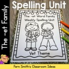 The -et Family Spelling {Word Work} Lists & Tests