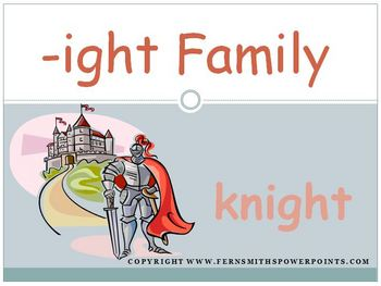 The -ight Family Packet ~ PowerPoint, Center Game & Spelli