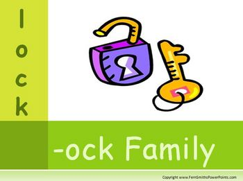 The -ock Family Packet ~ PowerPoint, Center Game & Spellin