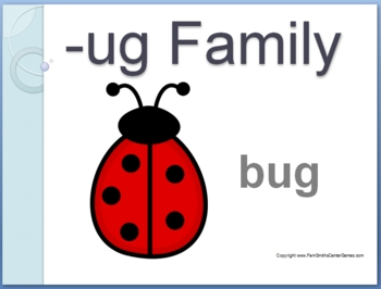 The -ug Family Packet ~ PowerPoint, Center Game & Spelling