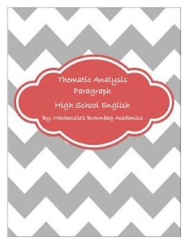Thematic Analysis Paragraph Lesson Plan