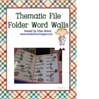 Thematic File Folder Word Walls
