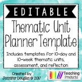 Thematic Unit Planning Template