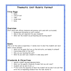 Thematic Unit Rubric