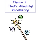 Theme 3: That's Amazing Vocabulary Cards 4th Grade