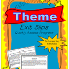 Theme Common Core Exit Slips Grades 6th to 8th