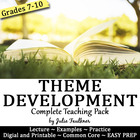 Theme Development Across A Text  - A CC Approach Teaching Pack