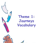 Theme I: Journeys Vocabulary Cards 4th Grade