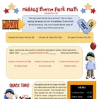 Theme Park Math ~ Middle School Math Standards Review