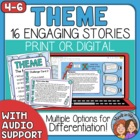 Theme Task Cards: 16 Story Cards for CCSS.ELA-Literacy.RL.2