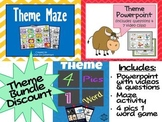 Theme Unit Bundle: Powerpoint, Questions, Videos, & Games