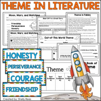 Theme in Literature:  Theme Match, Fables, Foldables, Writing Organizer and More