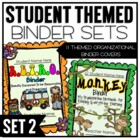 Themed Classroom Organizational Binder Pack 2