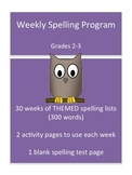Themed Spelling Lists - Complete Differentiated Spelling Program
