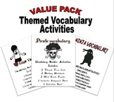 Themed Vocabulary Sets for Standardized Test Prep and Crea