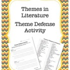 Themes in Literature Activity