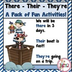 There, Their, They&#039;re - lesson, worksheets, games, centers