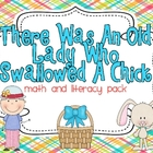 There Was An Old Lady Who Swallowed A Chick Math and Liter