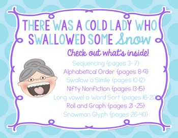 There Was a Cold Lady Who Swallowed Some Snow! activities