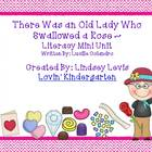 There Was an Old Lady That Swallowed a Rose - Literacy Mini Pack
