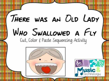 There Was an Old Lady Who Swallowed a Fly Cut & Paste