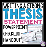 Thesis Statement Writing: Presentation, Handout & Checklis
