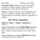 Thesis Statements - A Solid Lesson