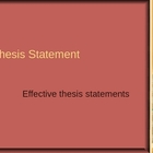 Thesis Statements--Make 'Em Great!