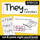 "Interactive Sight Word Reader ""They are Caterpillars"""