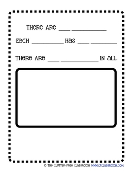 Things That Come in Groups Multiplication Packet