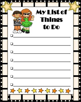 Things To Do List - Hollywood