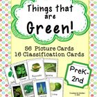 Things that are GREEN! 56 Picture Cards & 16 Classificatio