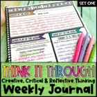 Think It Through:Weekly Activities for Creative, Critical,