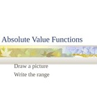 Think Quick PowerPoint: Absolute Value Functions