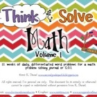 Think &amp; Solve Math  {Daily Problem Solving/CGI/Cognitively