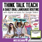 Think, Talk, Teach! Daily Discussion for Little Learners {