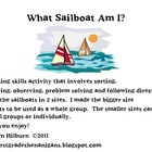 Thinking Activity Using Sailboat Attributes