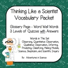 Thinking Like a Scientist Vocabulary Packet Freebie