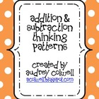 Thinking Pattern Posters - Addition &amp; Subtraction