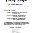 Thinking Strategy Reference Guides for Students