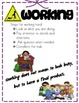 Thinking, Talking, Listening, and Working Steps Posters