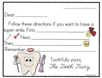 Thinking about Dental Health: Smart Charts and Writing Frames