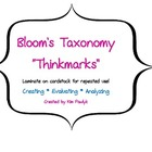 &quot;Thinkmarks&quot; based on Bloom&#039;s Taxonomy