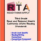 Third Grade California Read and Respond Sheets