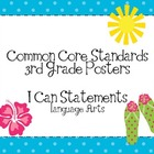 Third Grade Common Core Language Arts Posters-Tropical Theme
