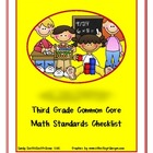 Third Grade Common Core Math Standards Checklist