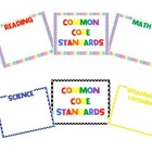 Third Grade Common Core Standards Display Posters