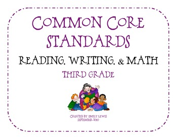 Third Grade Common Core Standards Flip Book