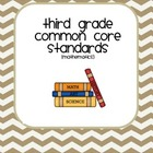 Third Grade Common Core Standards User friendly