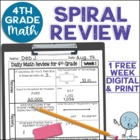 Third Grade Daily Math Review Week 1